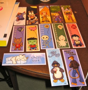 My bookmarks arrived!